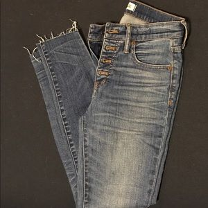 "Madewell 9"" High Riser Skinny Jean, size 26"